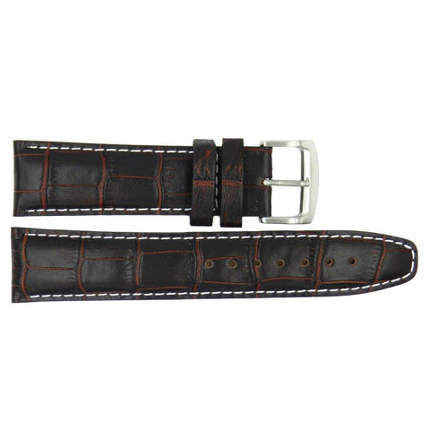 Genuine Citizen Eco-Drive Brown Alligator Grain 22mm Watch Strap