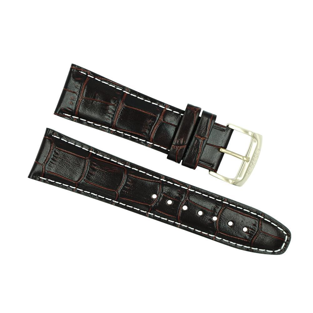 Citizen 23mm Brown Leather Strap Rose Buckle