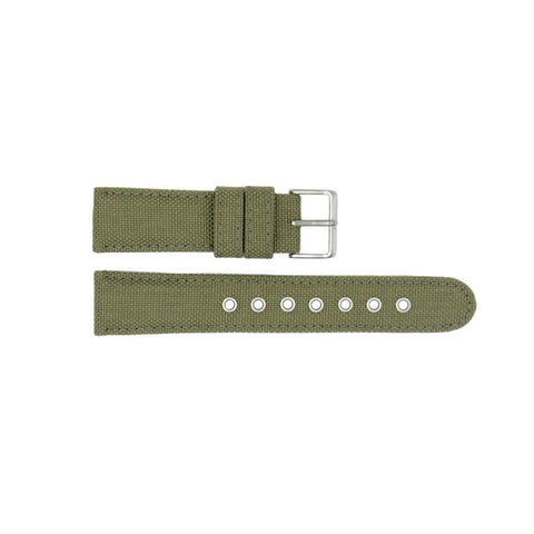 Genuine Citizen Khaki Nylon and Leather 22mm Watch Strap