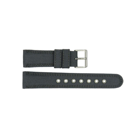 Genuine Citizen Gray Nylon and Leather 22mm Watch Strap