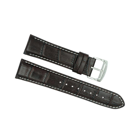 Citizen 22mm Brown Leather Strap with White Stitching