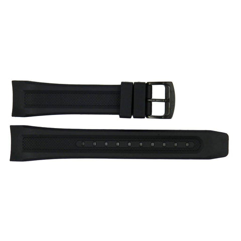 Genuine Citizen Black Eco-Drive Proximity 22mm Rubber Watch Strap