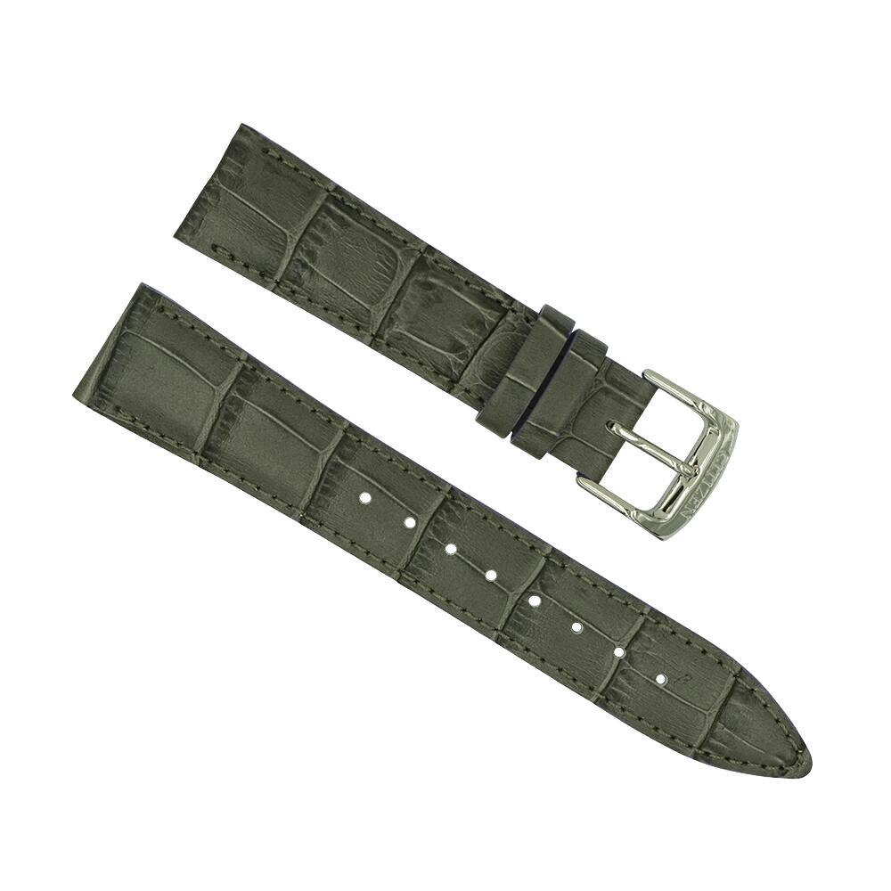 citizen grey leather 19mm watch strap