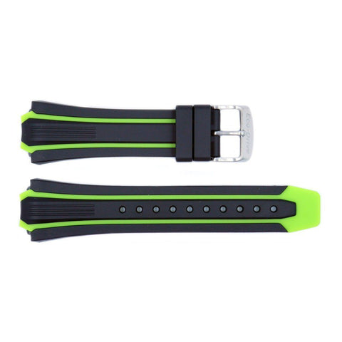 Genuine Citizen Black/Green Rubber Eco-Drive 26/20mm Watch Strap