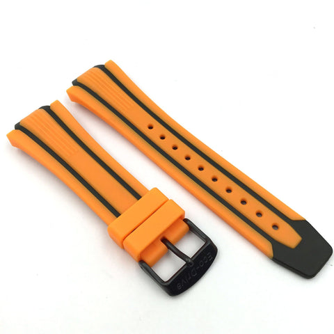 CITIZEN WATCH BAND ORANGE/BLACK RUBBER PART # 59-S52816