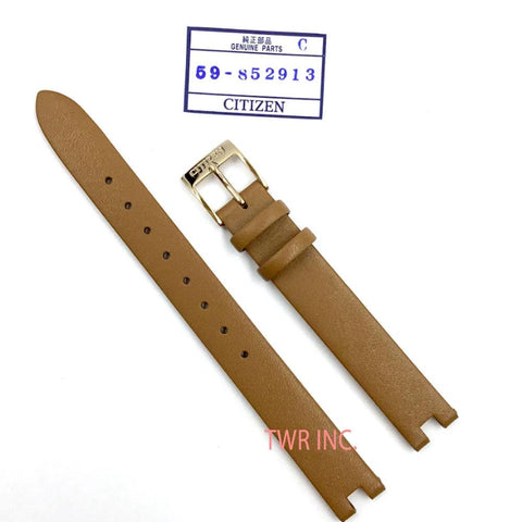 CITIZEN WATCH STRAP BROWN LEATHER PART # 59-S52913