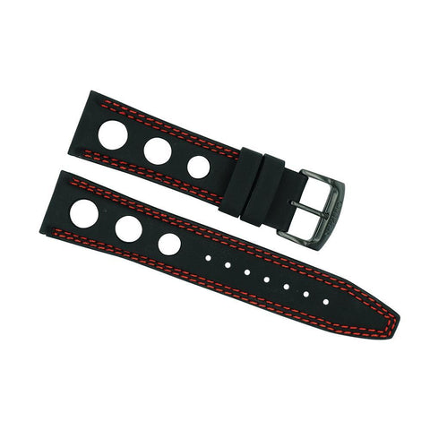 Citizen 22mm Primo Black Leather with Red Stitching