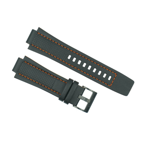 Citizen Black with Orange Stitching Watch Strap AW1385