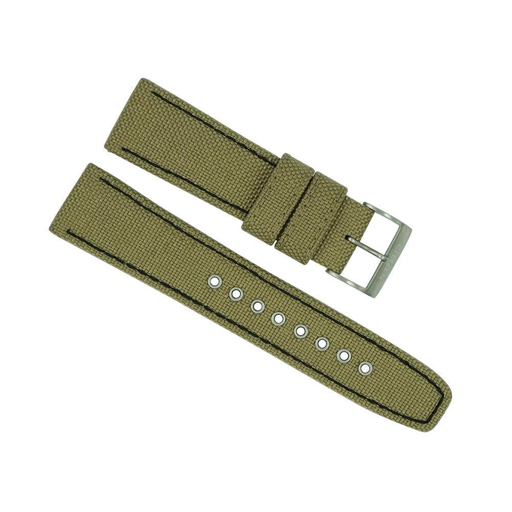 citizen 22mm beige khaki nylon sport strap