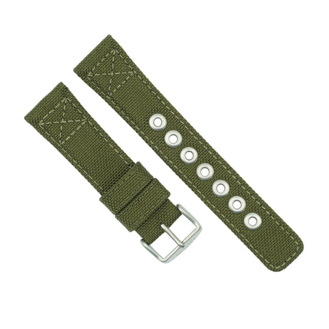 Citizen 22mm Green Nylon Watch Strap