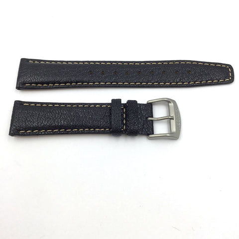 CITIZEN WATCH STRAP 20MM BLACK LEATHER PART # 59-S53284