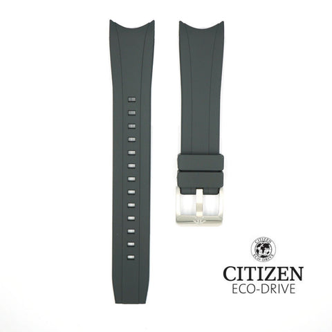 Genuine Citizen Black Eco-Drive Aqualand 22mm Rubber Watch Band