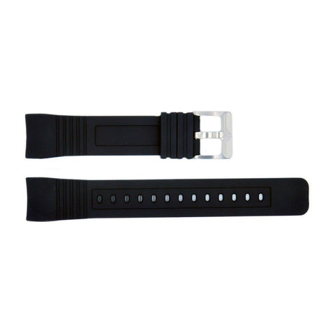 Genuine Citizen Rubber Black 23mm Watch Strap