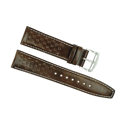 Citizen 22mm Brown Holes Leather Watch Strap