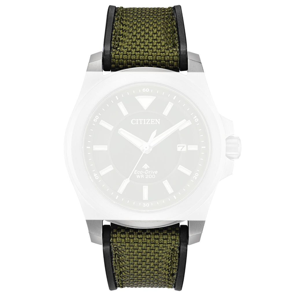 Citizen 59-S53998 Green Leather Strap 22mm image