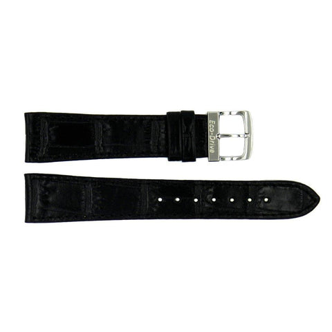 Genuine Citizen Eco-Drive Black Alligator Grain 19mm Leather Watch Band