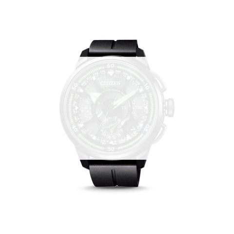 CITIZEN BLACK POLYURETHANE WATCH STRAP
