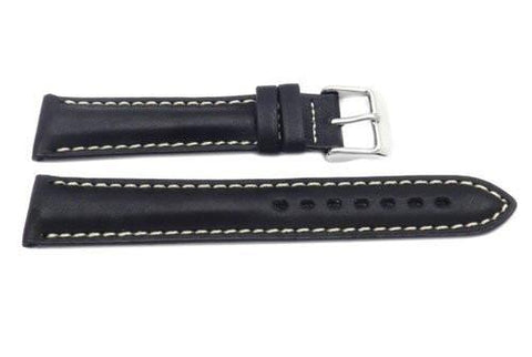 Hadley Roma Black Tag Heuer Style Waterproof Leather Watch Band