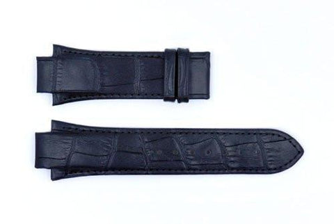 Genuine ESQ Black Crocodile Grain Textured Leather 26mm Watch Strap