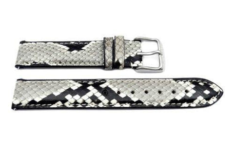 Hadley Roma Genuine Python Glossy Watch Band