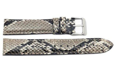 Hadley Roma Genuine Python Skin Natural Watch Band