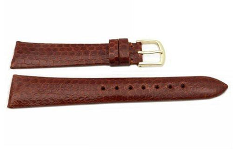 Hadley Roma Genuine Tan Water Snake Watch Strap