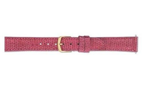 Hadley Roma Pink Genuine Java Lizard Medium Padding Ladies Watch Strap