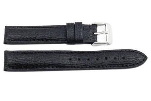 Hadley Roma Black Genuine Shark Skin Hypo Allergenic Watch Strap