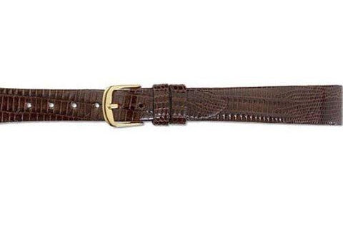 Hadley Roma Brown Genuine Teju Lizard Ladies Watch Band
