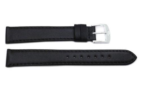 ZRC Genuine Calfskin Leather Flat Smooth Anti-Allergic Watch Strap