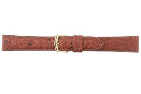 Hadley Roma Cognac Genuine Ostrich Leather Strap
