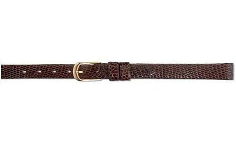 Hadley Roma Brown Genuine Java Lizard Flat Ladies Watch Strap