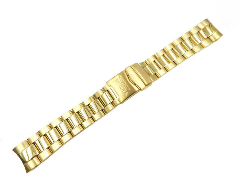 Genuine Invicta Men's Pro Diver Gold Tone Stainless Steel 22mm Watch Band