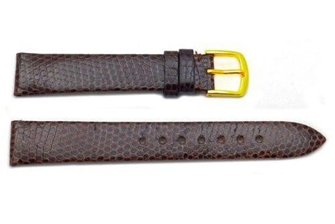 Hadley Roma Genuine Brown Java Lizard Leather Watch Band