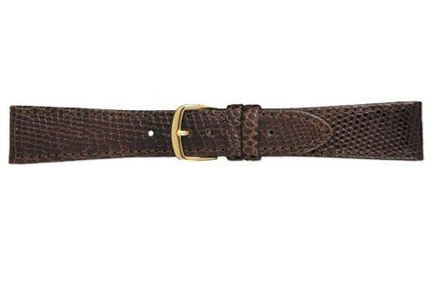 Hadley Roma Brown Genuine Lizard Flat Elegant Watch Strap