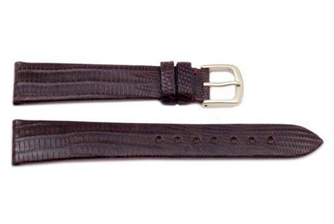 Hadley Roma Genuine Brown Teju Lizard Watch Strap