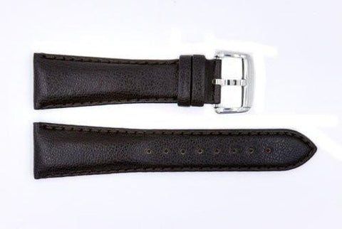 Genuine ESQ Dark Brown Textured Leather 23mm Watch Strap