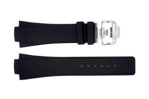 Genuine ESQ Black Rubber 28mm Watch Strap