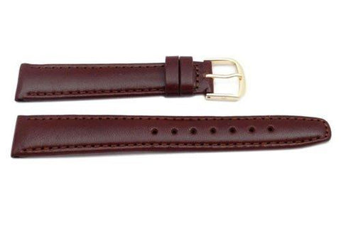 Hadley Roma Brown Genuine Leather Hypo Allergenic Watch Band
