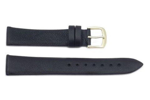Hadley Roma Genuine Black Lambskin Soft Leather Watch Strap