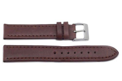 Hadley Roma Brown Smooth Sport Leather Watch Band