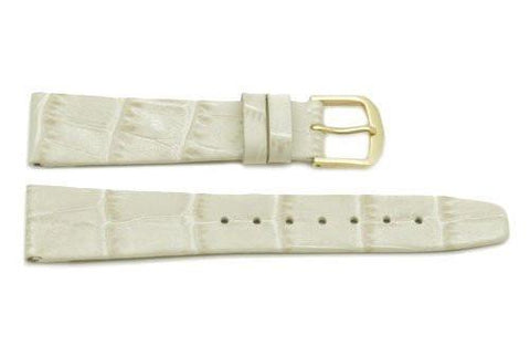 Hadley Roma Beige Alligator Grain Leather Watch Band