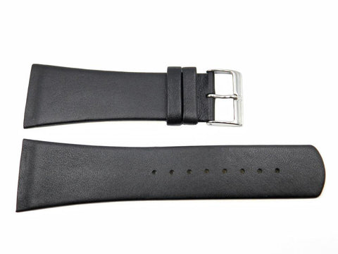 Genuine Skagen Black Leather 30mm Watch Strap - Screws