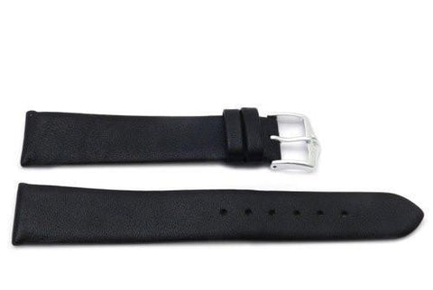 Genuine Smooth Leather Movado Style Black Watch Strap