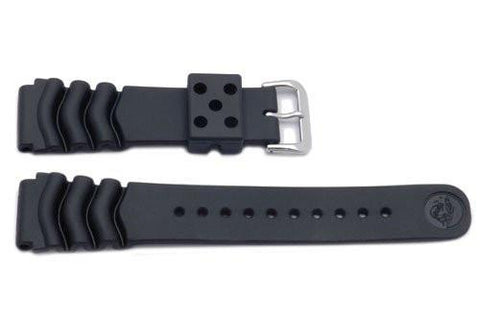 Seiko Genuine Black Rubber Diver's 22mm Watch Strap