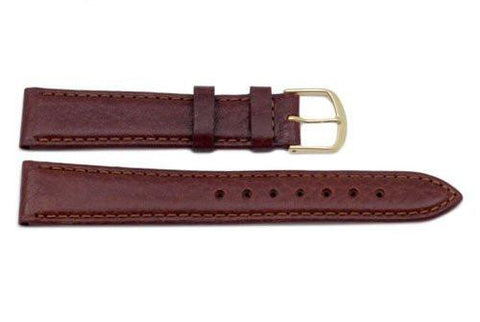 Genuine Textured Padded Honey Leather Watch Strap