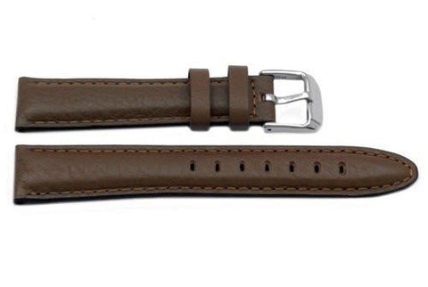 Genuine Textured Honey Brown Leather Watch Band