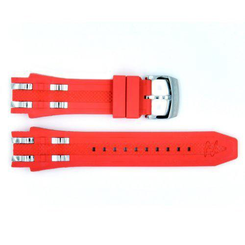 Genuine Invicta Reserve Collection Bolt Chronograph Red Polyurethane 26mm/20mm Watch Band