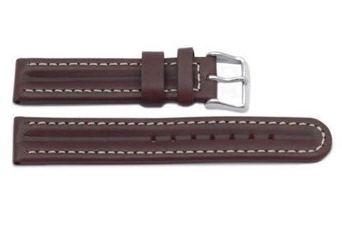 Genuine Oil Tanned Leather Brown Watch Band