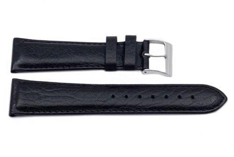 Genuine Textured Leather Black Watch Strap